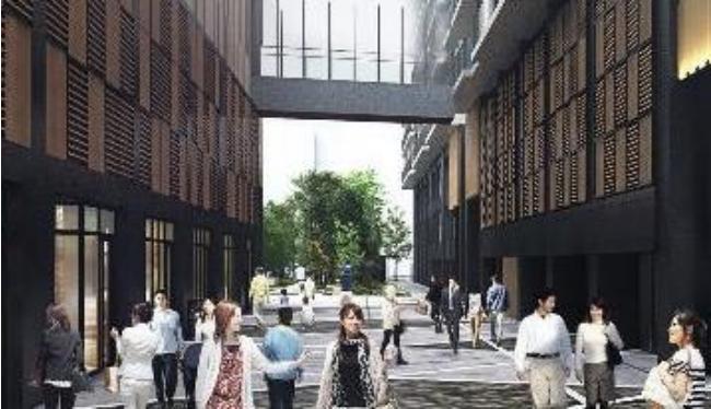 亀戸六丁目計画「横丁エリア」完成予想図イメージ