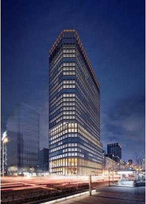 淀屋橋駅東地区都市再生事業夜景イメージ
