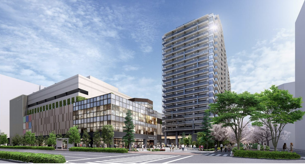 亀戸六丁目計画の完成予想図イメージ