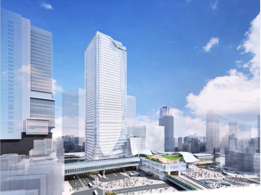 渋谷スクランブルスクエア全体完成予想イメージ