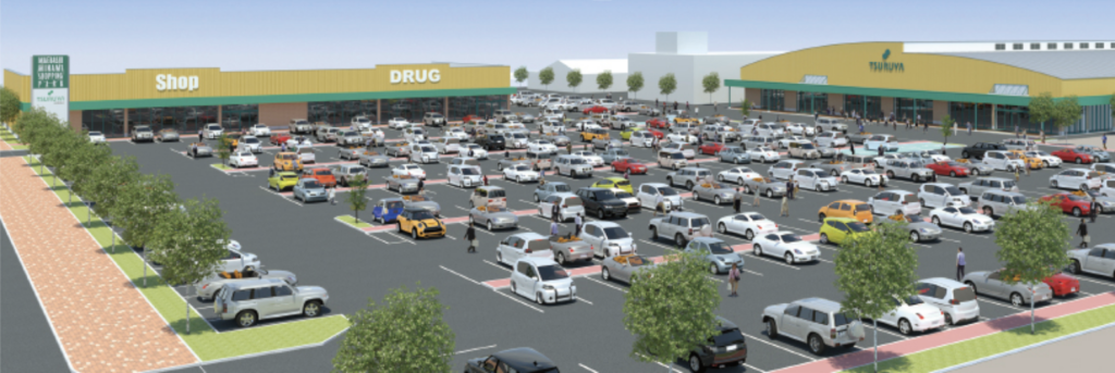 ツルヤ前橋南ショッピングパークの外観イメージ
