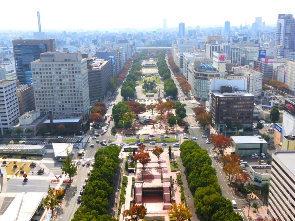 再開発・建替え計画が持ち上がっている名古屋三越栄店(オリエンタルビル)を含む栄エリアの町並み