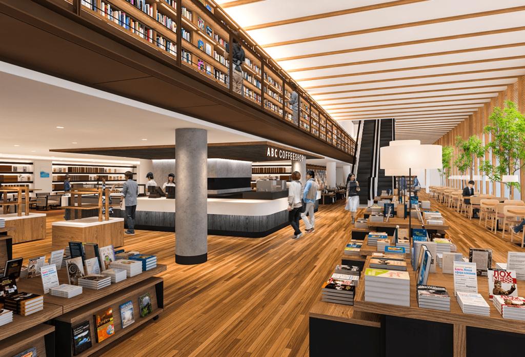 キーノ和歌山の和歌山市民図書館の内観イメージ