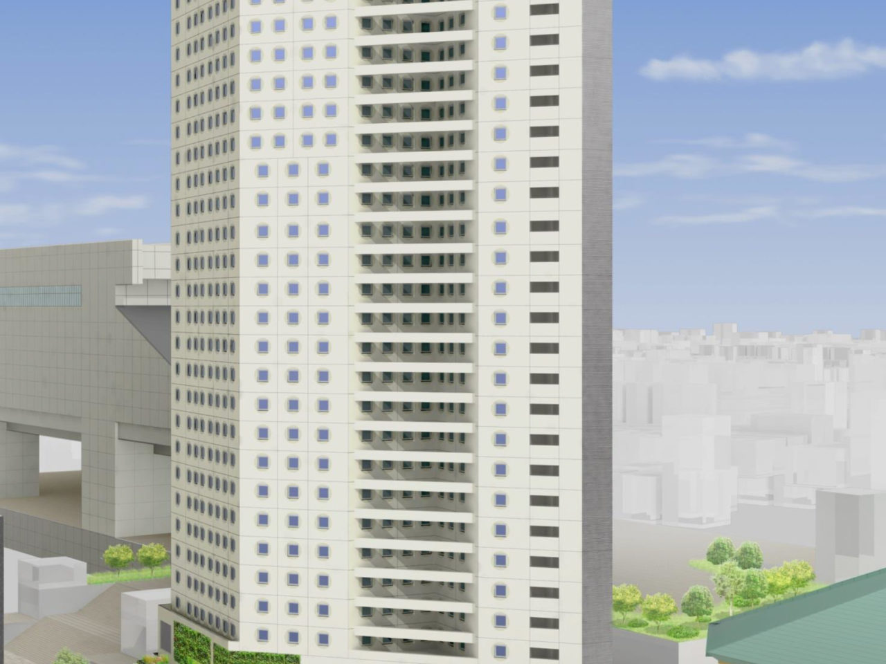 アパホテル&リゾート両国駅タワーの外観イメージ