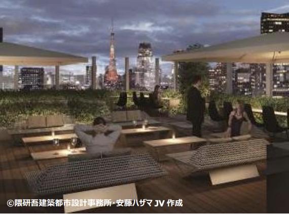 東京エディション銀座のルーフトップバーイメージ