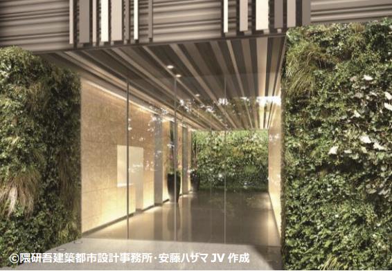 東京エディション銀座のゲート部分イメージ