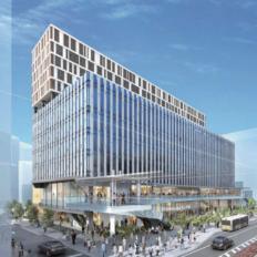 川越駅西口複合商業施設の完成予想イメージ