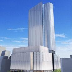 札幌駅南口北4西3街区再開発の完成予想図イメージ