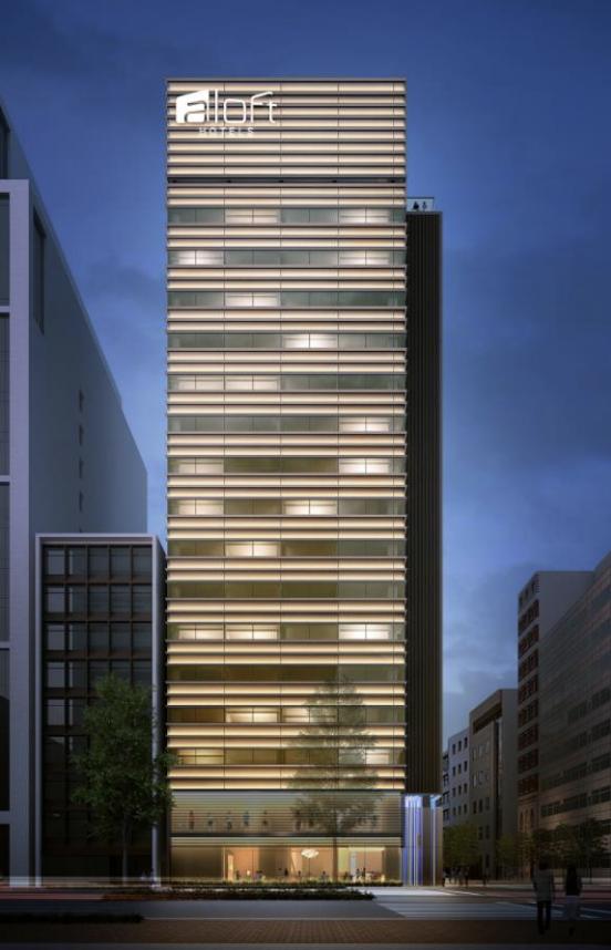 アロフト東京銀座の外観イメージ