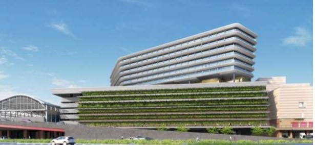 JR長崎新駅ビルの外観イメージ