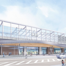 新・長崎駅舎の外観イメージ・完成予想図