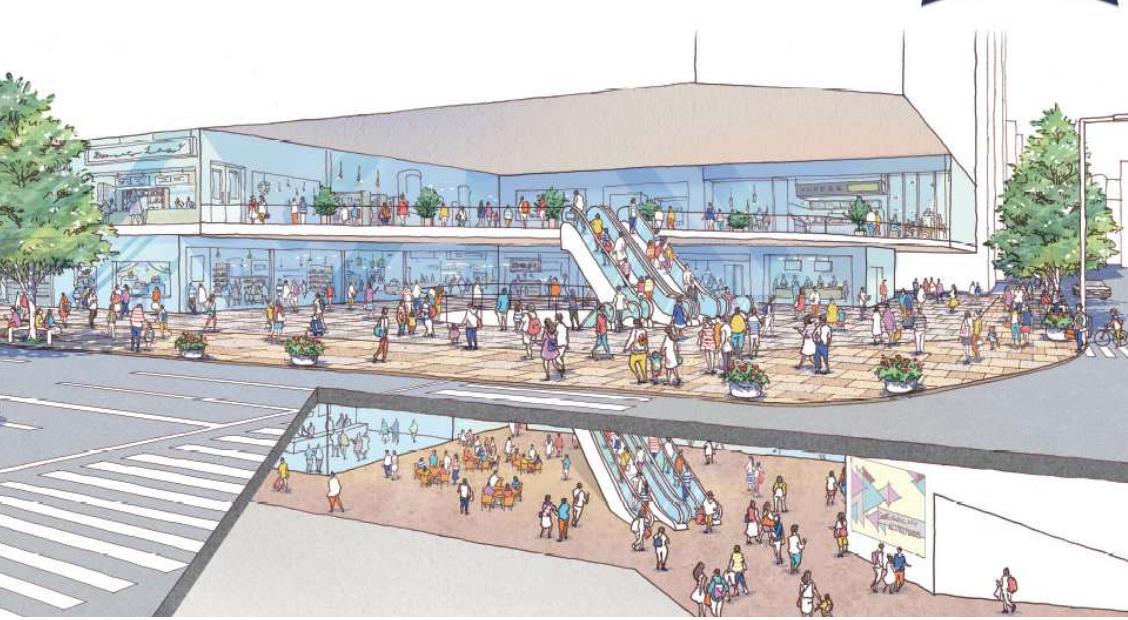 西日本シティ銀行新本店ビル低層階イメージ