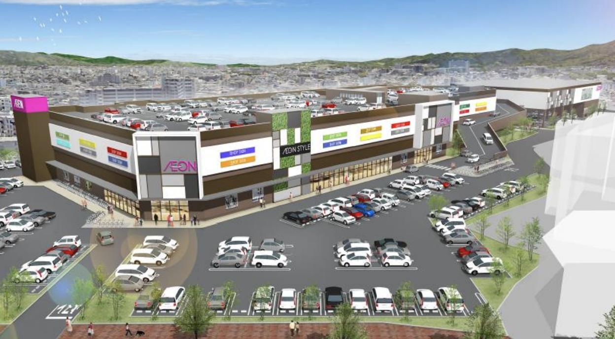 イオンが入居する原ショッピングセンターの外観イメージ