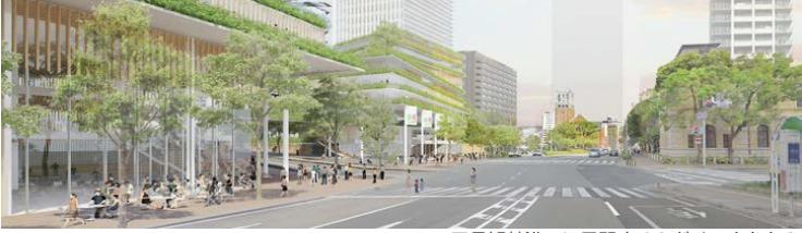 兵庫県庁舎建て替え構想の低層部イメージ