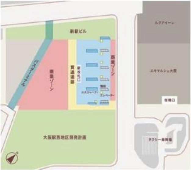 大阪駅西エリア開発全体の平面イメージ