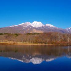 上越妙高駅からアクセスの良い妙高山の写真