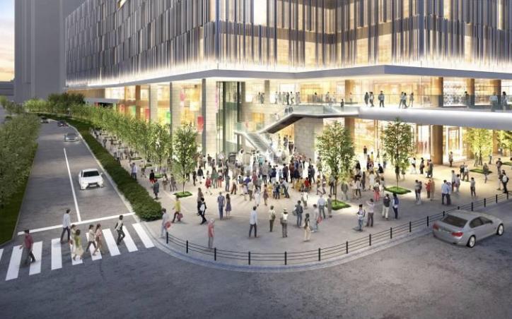 大阪駅西地区開発計画のデッキイメージ