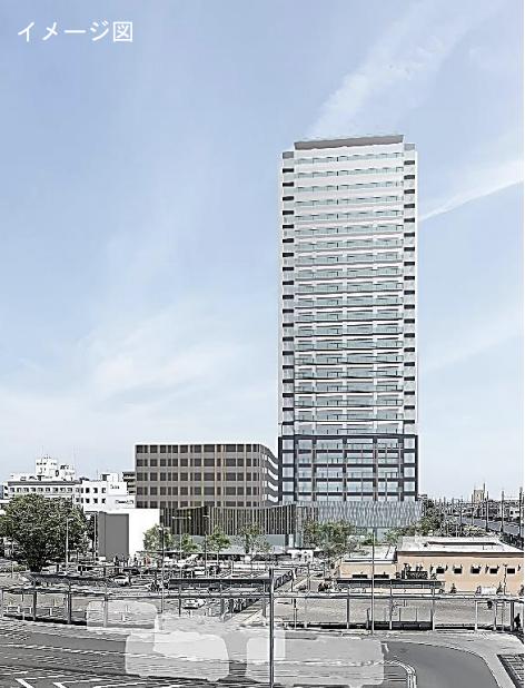 JR前橋駅北口地区市街地再開発事業の外観イメージ
