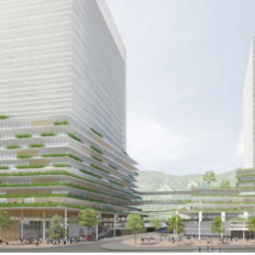 兵庫県庁舎建て替え再開発で神戸元町に整備される新施設のイメージ