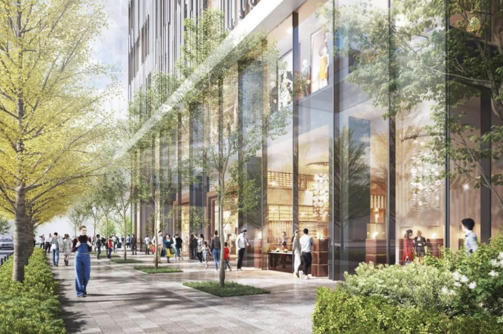 大阪駅西地区開発計画のストリートイメージ