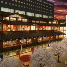 ミナカ小田原の低層部外観イメージ