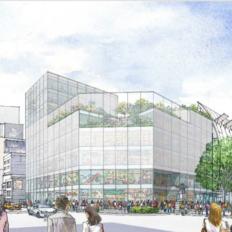 神宮前六丁目地区市街地再開発の外観ボリュームイメージ