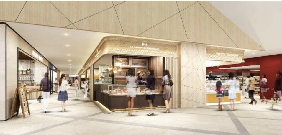 クロスゲート金沢の1階商業施設内観イメージ