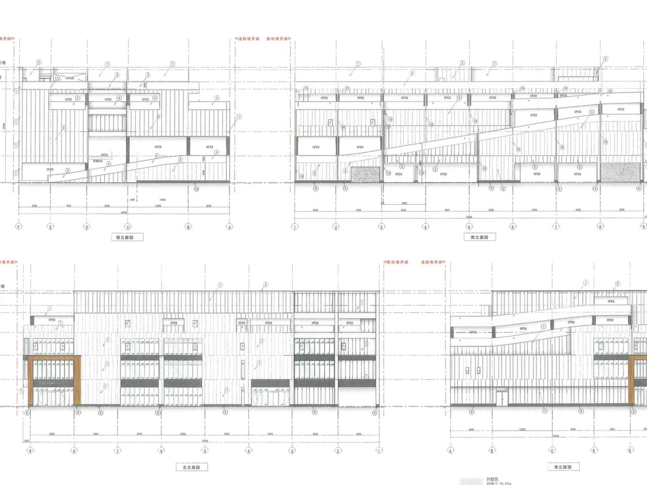 福岡市の港1丁目SC計画の外観図