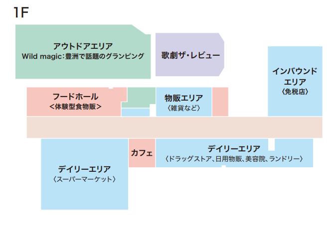 アイランド・アイ商業施設1階構成図