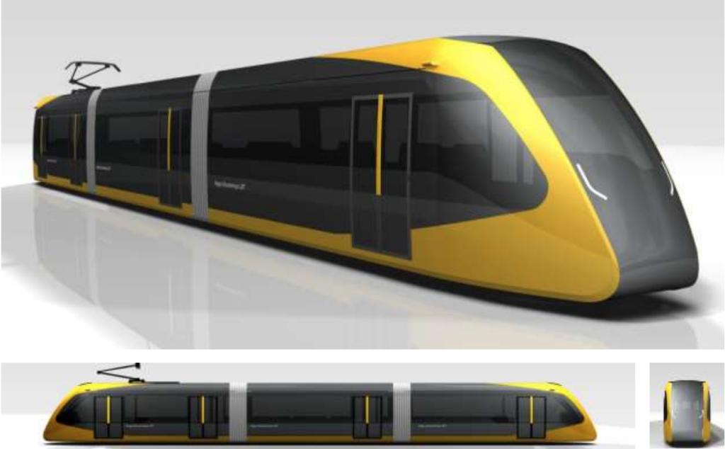 宇都宮・芳賀LRTの車両デザイン画像