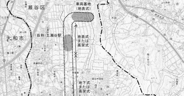 上瀬谷ラインの計画段階配慮書の資料