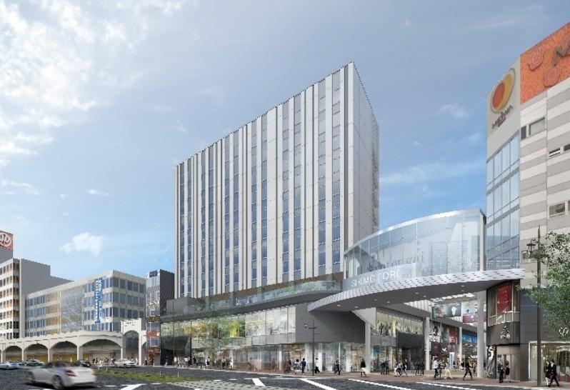 熊本のパルコ跡地の再開発ビル「下通GATEプロジェクトビル」の完成予想図1