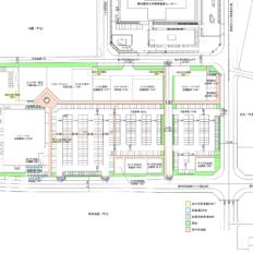 岡崎駅南複合商業施設の平面図