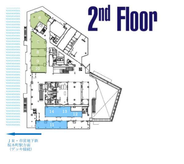 ラクシスフロント2階構成図
