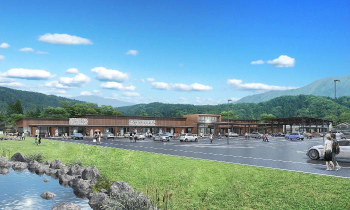 道の駅越前おおの荒島の郷の完成予想図イメージ