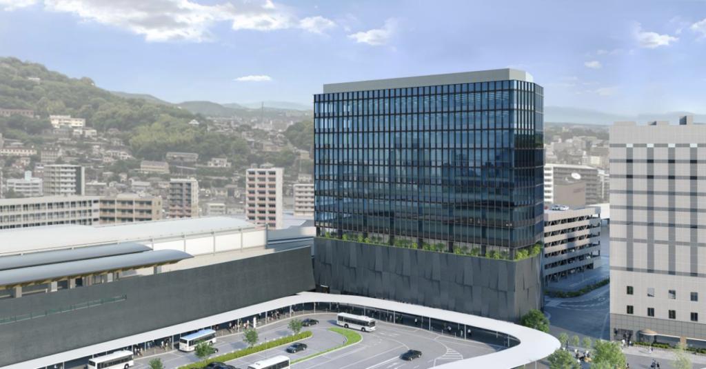 JR熊本白川ビルの完成予想図イメージ