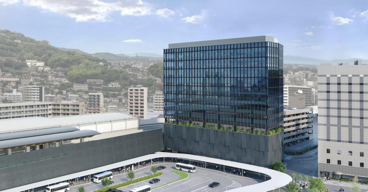 熊本駅北ビルの完成予想図イメージ