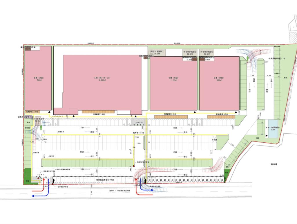 ハローズ東加古川モールの施設構成図