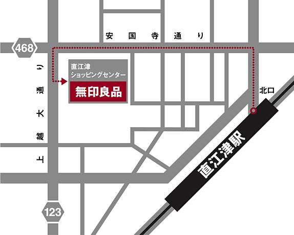 無印良品直江津のアクセスマップ