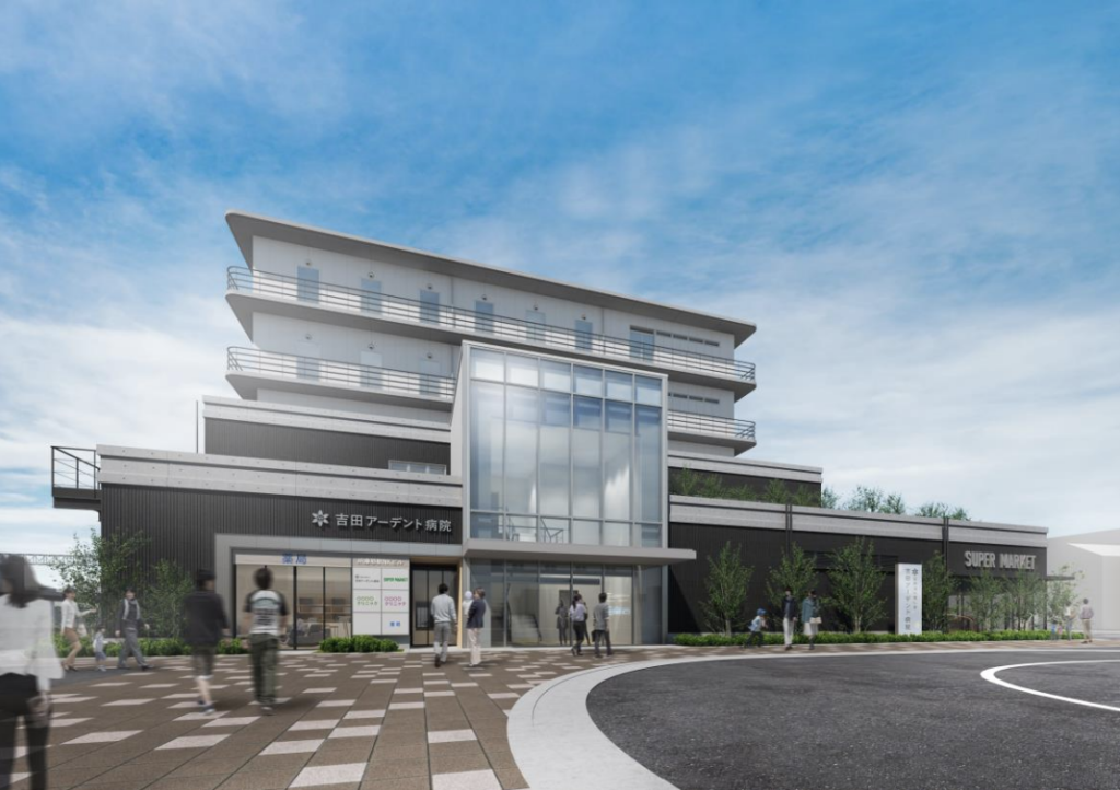 JR摩耶駅NKビルの完成予想図イメージ