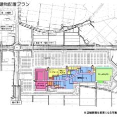 イオン新能代ショッピングセンターの建物配置図