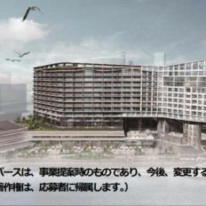 みなとみらい62街区のベルジャヤ等による高級ホテル・コンドミニアム計画の完成予想図