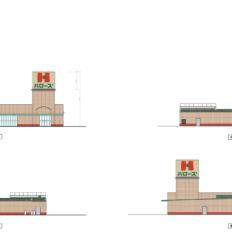ハローズ東加古川モールのハローズ棟完成予想図