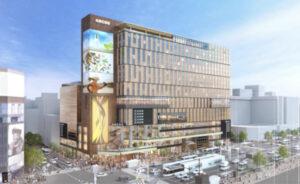 すすきのラフィラ跡地再開発ビルの完成予想図イメージ