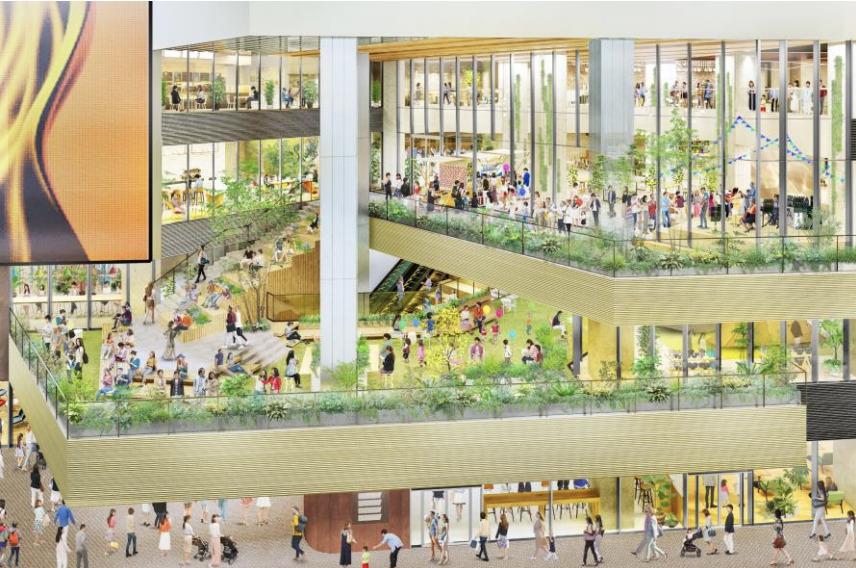 「札幌すすきの駅前複合開発計画」の完成予想図イメージ