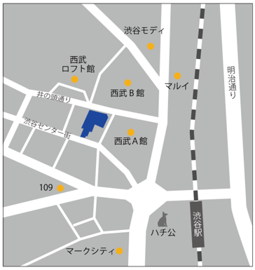 イケア渋谷の場所・地図