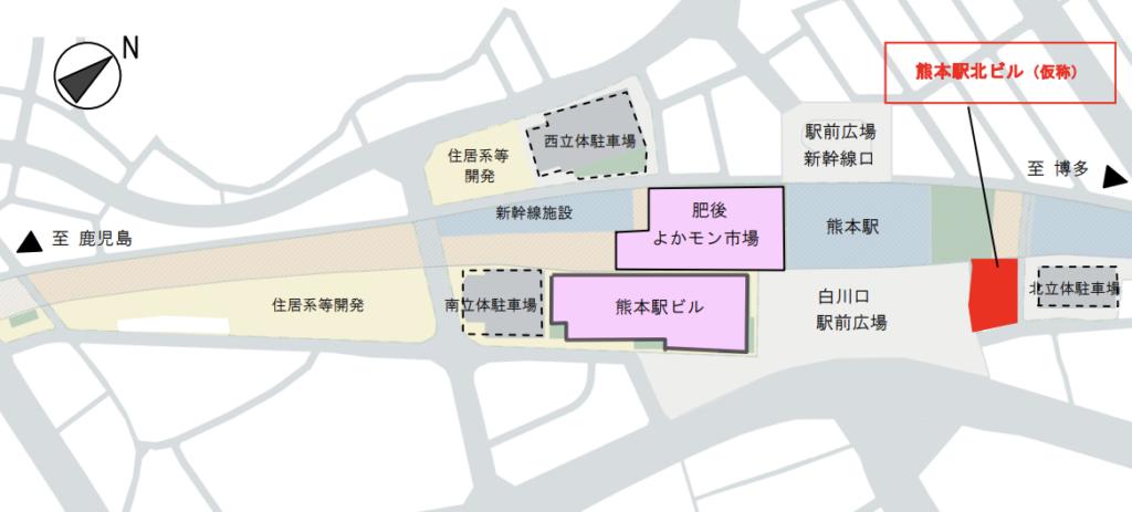 JR熊本白川ビルの配置図