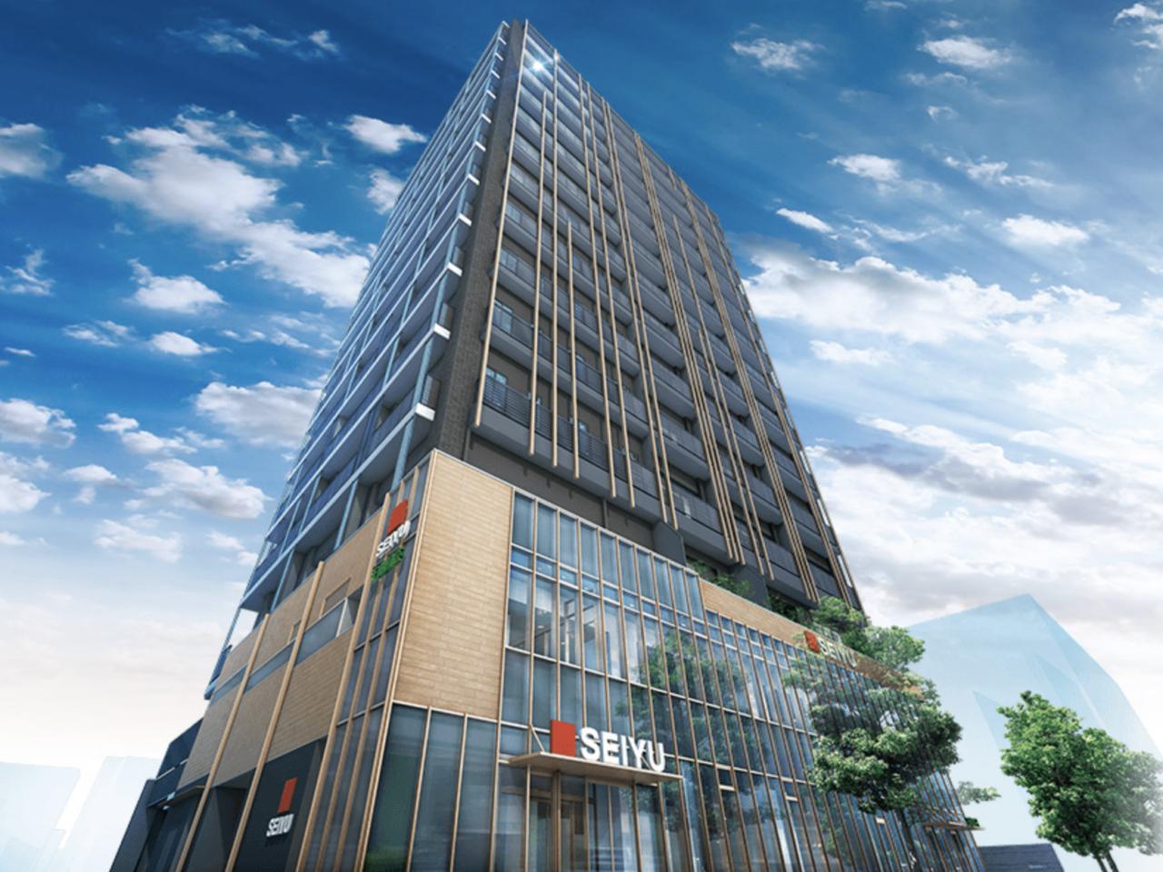 西友長野石堂店の再開発ビル「グラディス南石堂」の完成予想図