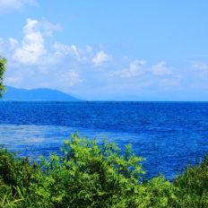 滋賀県の琵琶湖の風景写真