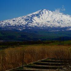秋田県の鳥海山の風景写真